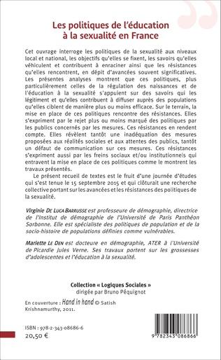 4eme Les politiques de l'éducation à la sexualité en France