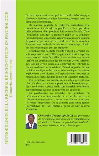 4eme Méthodologie de la recherche scientifique en psychologie