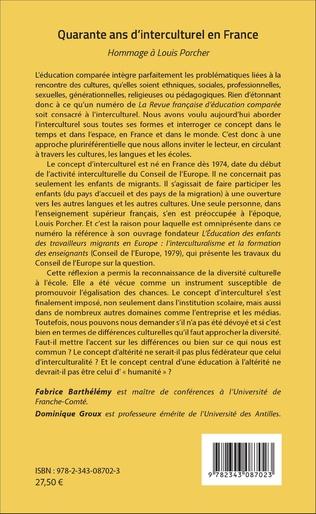 4eme Quarante ans d'interculturel en France