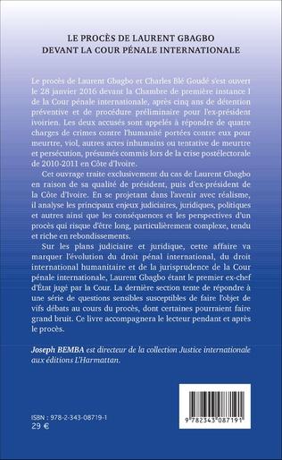 4eme Le procès de Laurent Gbagbo devant la cour pénale internationale