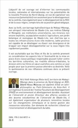 4eme La province du Nord-Ubangi et ses potentialités