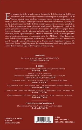 4eme Effets-frontières en Méditerranée : contrôles et violences