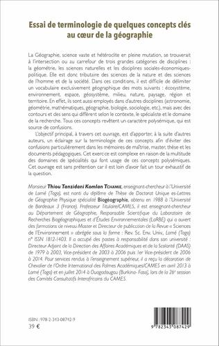 4eme Essai de terminologie de quelques concepts clés au coeur de la géographie