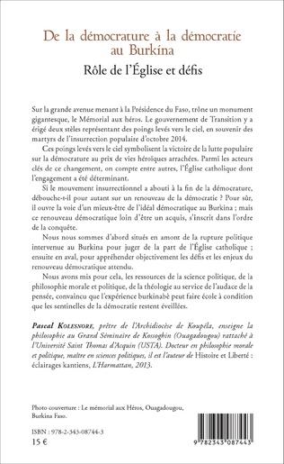 4eme De la démocrature à la démocratie au Burkina