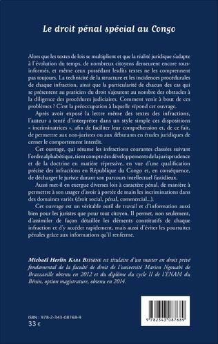 4eme Le droit pénal spécial au Congo