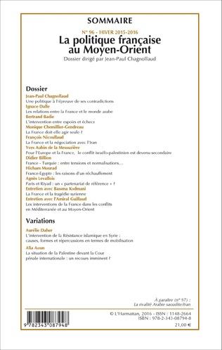 4eme La politique française au Moyen-Orient