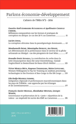 4eme Réflexions comparatives sur les formes et pratiques de corruption en Afrique. Le cas des 20 % au Cameroun.