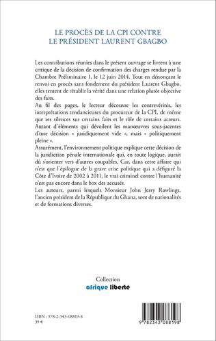 4eme Le procès de la CPI contre le Président Laurent Gbagbo