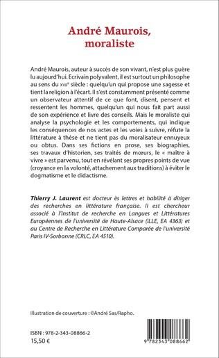 4eme André Maurois, moraliste