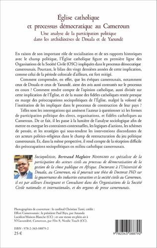 4eme Église catholique et processus démocratique au Cameroun