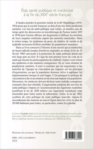 4eme Etat, santé publique et médecine à la fin du XIXe siècle français