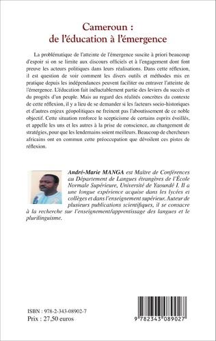 4eme Cameroun : de l'éducation à l'émergence