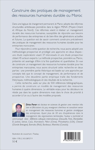 4eme Construire des pratiques de management des ressources humaines durable au Maroc
