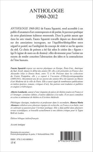 4eme Anthologie 1960-2012