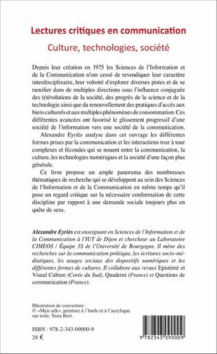 4eme Lectures critiques en communication