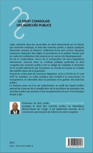 4eme Le droit congolais des marchés publics