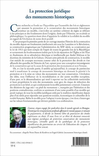 4eme La protection juridique des monuments historiques