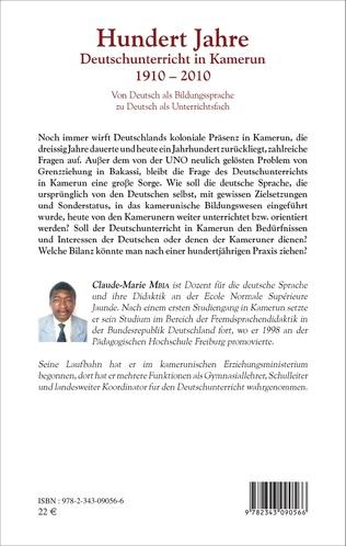 4eme Hundert Jahre Deutschunterricht in Kamerun 1910 - 2010