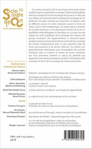4eme Sociologie de l'art et analyse des réseaux sociaux