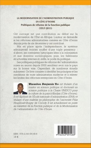 4eme La modernisation de l'administration publique en Côte d'Ivoire
