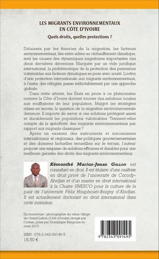 4eme Les migrants environnementaux en Côte d'Ivoire