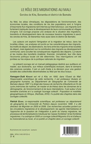 4eme Le rôle des migrations au Mali
