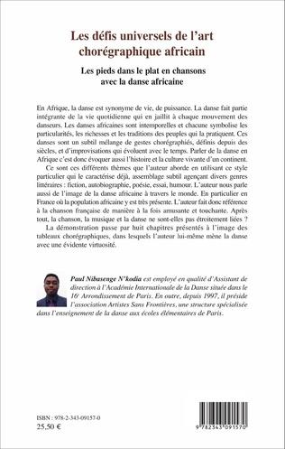 4eme Les défis universels de l'art chorégraphique africain