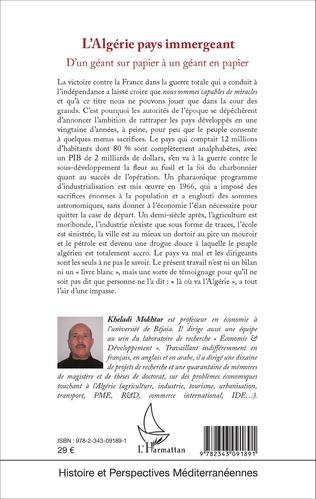 4eme L'Algérie pays immergeant