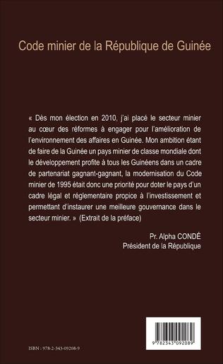 4eme Code minier de la République de Guinée