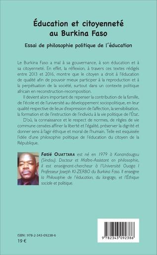 4eme Education et citoyenneté au Burkina Faso