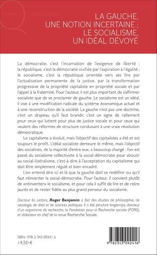 4eme La Gauche, une notion incertaine ; le socialisme, un idéal dévoyé
