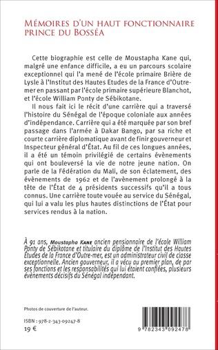 4eme Mémoires d'un haut fonctionnaire Prince de Bosséa