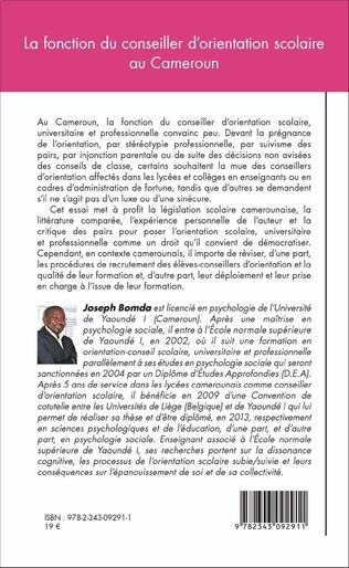 4eme La fonction du conseiller d'orientation scolaire au Cameroun