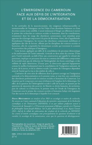 4eme L'émergence du Cameroun face aux défis de l'intégration et de la démocratisation