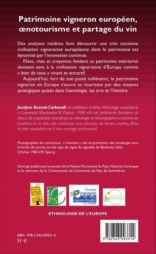 4eme Patrimoine vigneron européen, oenotourisme et partage du vin