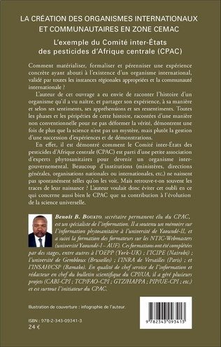 4eme La création des organismes internationaux et communautaires en zone CEMAC
