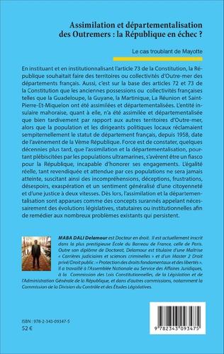 4eme Assimilation et départementalisation des Outremers : la République en échec ?