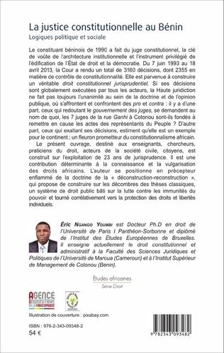 4eme La justice constitutionnelle au Bénin