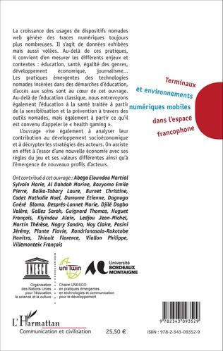 4eme Terminaux et environnement numériques mobiles dans l'espace francophone