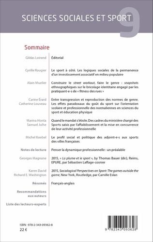 4eme Sciences sociales et sport n°9