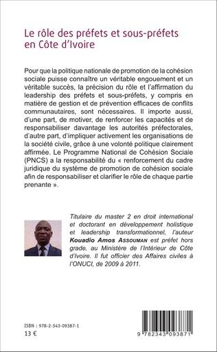 4eme Le rôle des préfets et sous-préfets en Côte d'Ivoire