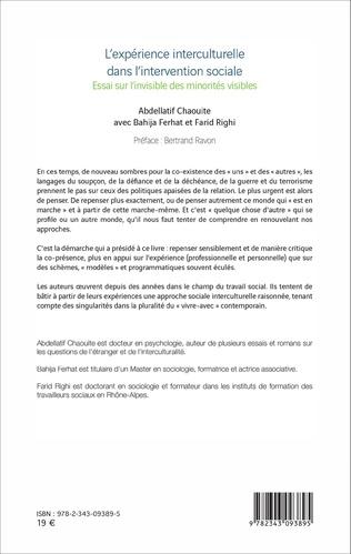 4eme L'expérience interculturelle dans l'intervention sociale