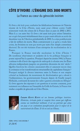 4eme Côte d'Ivoire : l'énigme des 3000 morts