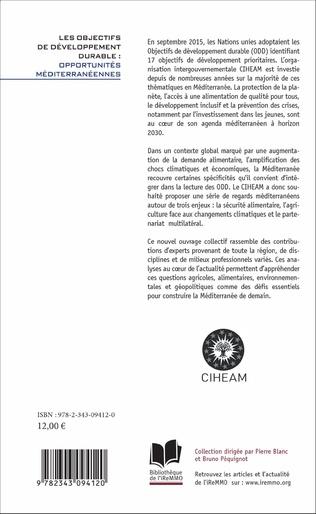 4eme Les objectifs de développement durable : opportunités méditerranéennes