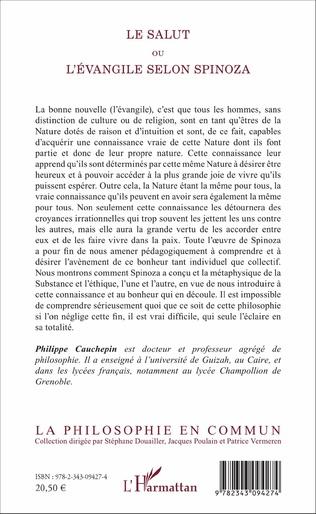4eme Le Salut ou l'Evangile selon Spinoza