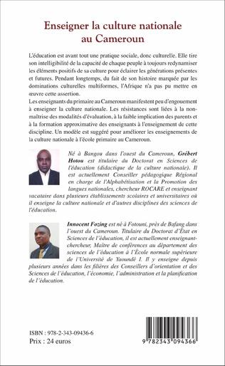 4eme Enseigner la culture nationale au Cameroun