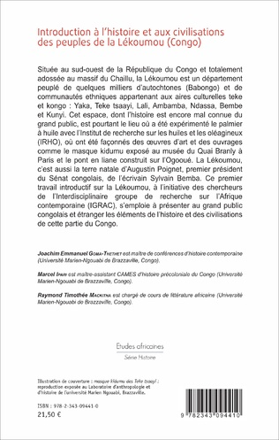 4eme Introduction à l'histoire et aux civilisations des peuples de la Lékoumou (Congo)