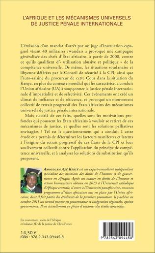 4eme L'Afrique et les mécanismes universels de justice pénale internationale