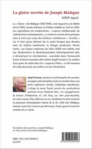 4eme La gloire secrète de Joseph Malègue