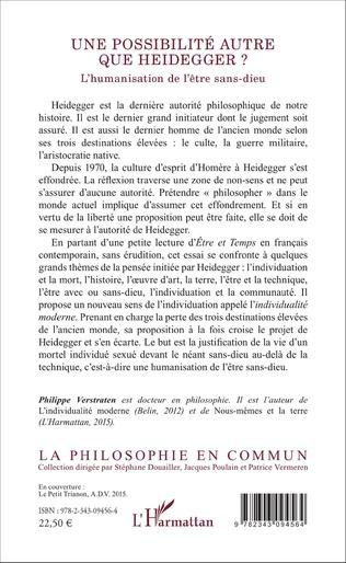 4eme Une possibilité autre que Heidegger ?